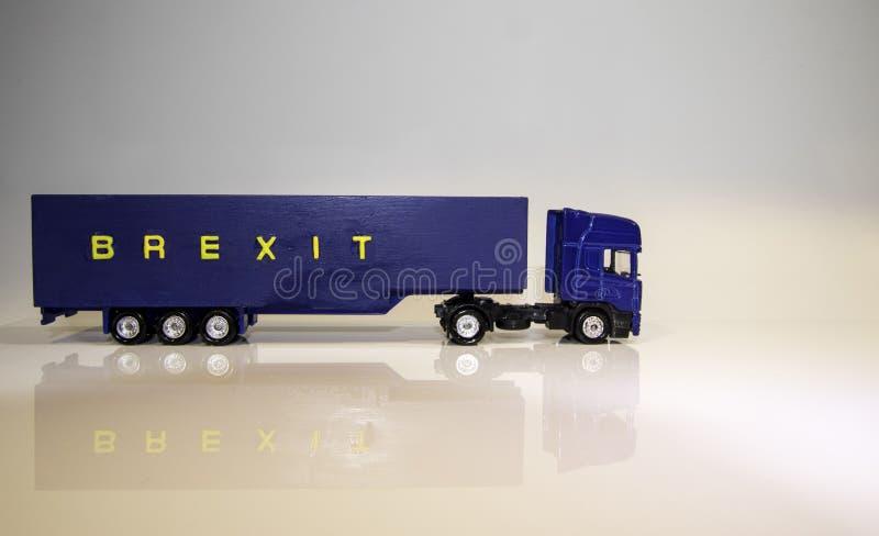 Βαρύ όχημα αγαθών Brexit στοκ φωτογραφία