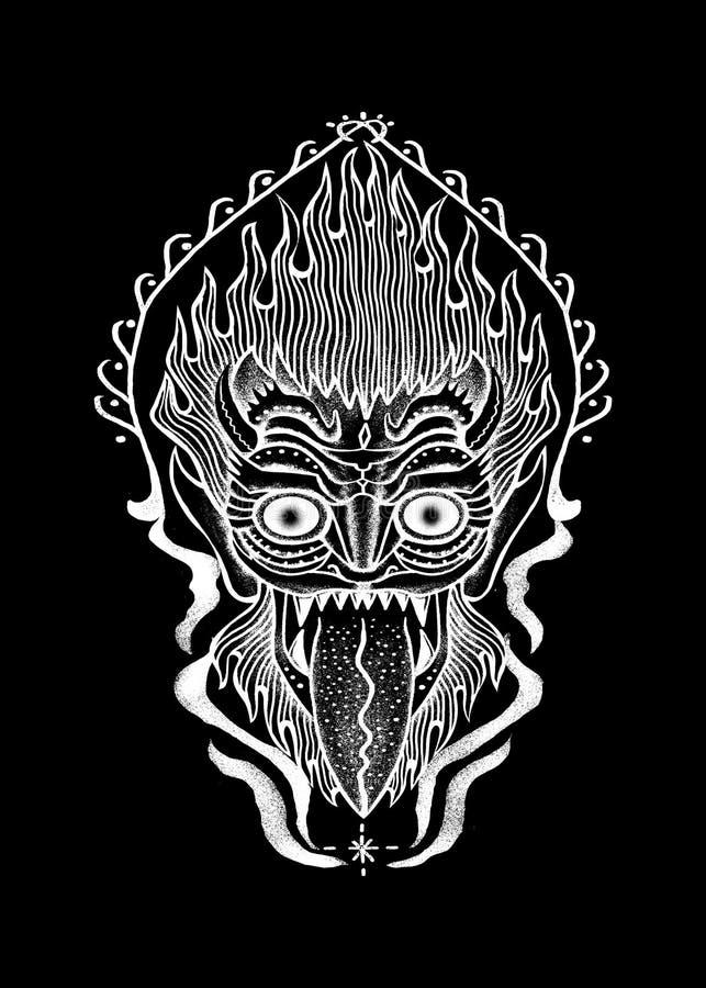 Βασιλιάς της διανυσματικής απεικόνισης τέχνης πυρκαγιάς ελεύθερη απεικόνιση δικαιώματος