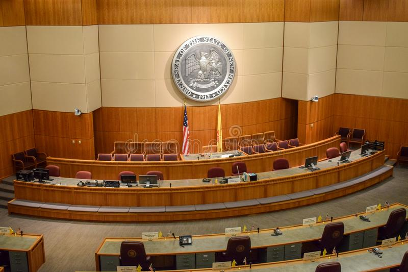Βουλή των Αντιπροσώπων Νέων Μεξικό και αίθουσα Συγκλήτου στοκ εικόνες με δικαίωμα ελεύθερης χρήσης