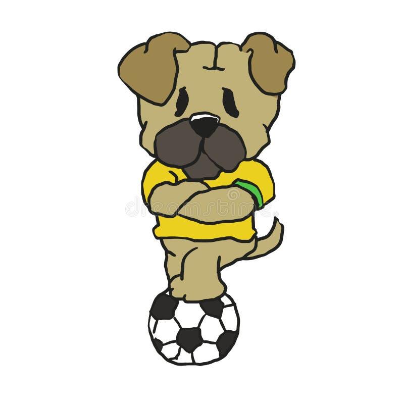 Βραζιλιάνος ποδοσφαιριστής μαλαγμένου πηλού διανυσματική απεικόνιση