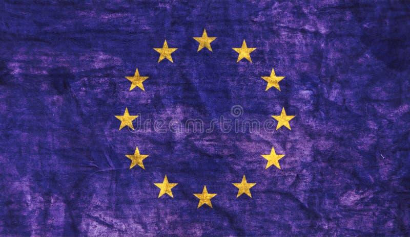 Βρώμικη σημαία της Ευρωπαϊκής Ένωσης στοκ εικόνες