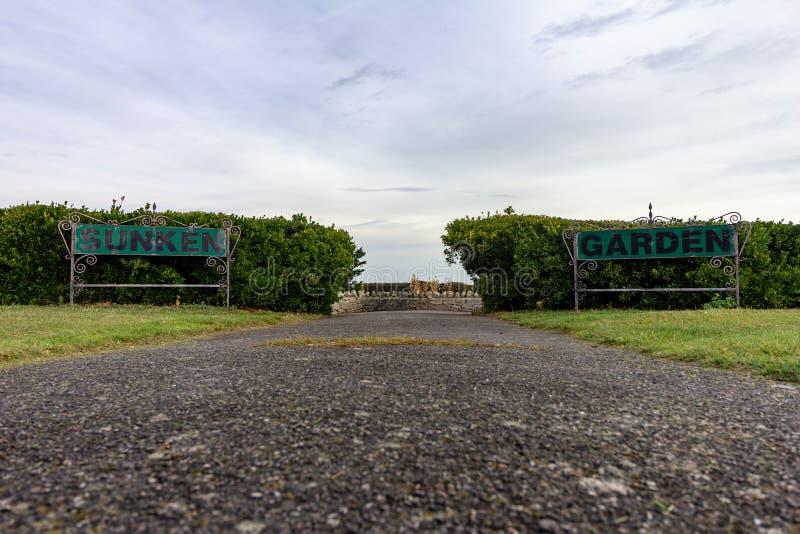 Βυθισμένοι κήπος σε Margate, Κεντ, Αγγλία, Ηνωμένο Βασίλειο στοκ εικόνα