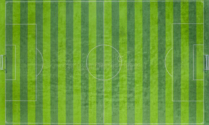 Γήπεδο ποδοσφαίρου, αγωνιστικός χώρος ποδοσφαίρου, πράσινος τομέας γηπέδου ποδοσφαίρου, εναέρια άποψη στοκ εικόνες