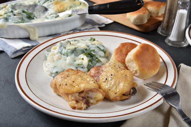 γεύμα κοτόπουλου σπιτικό στοκ εικόνες