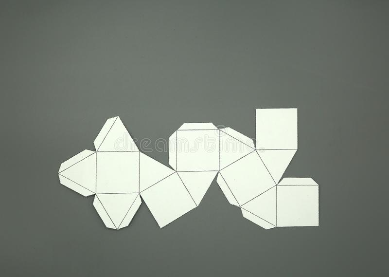 Γεωμετρία καθαρή αρχιμηδικού στερεού Cuboctahedron 2-διαστατικός μορφή που μπορεί να διπλωθεί για να διαμορφώσει μια διαστατική μ διανυσματική απεικόνιση