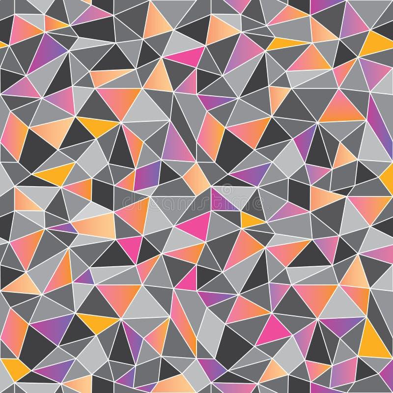 Γεωμετρικός χαμηλός πολυ γραφικός επαναλαμβάνει το σχέδιο ελεύθερη απεικόνιση δικαιώματος