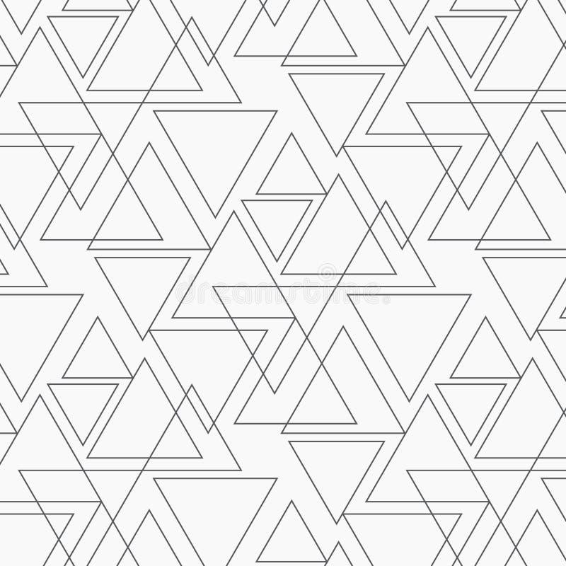 Γεωμετρικό διανυσματικό σχέδιο, που επαναλαμβάνει το γραμμικό τρίγωνο στο διαφορετικό μέγεθος γραφικός καθαρός για το ύφασμα, ταπ ελεύθερη απεικόνιση δικαιώματος