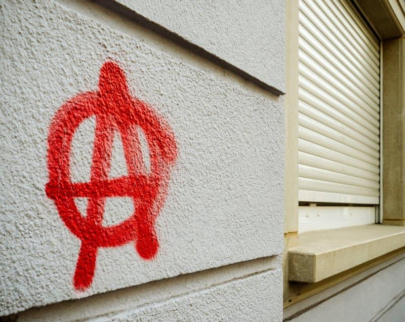 Γκράφιτι αναρχίας στον τοίχο στοκ φωτογραφία με δικαίωμα ελεύθερης χρήσης