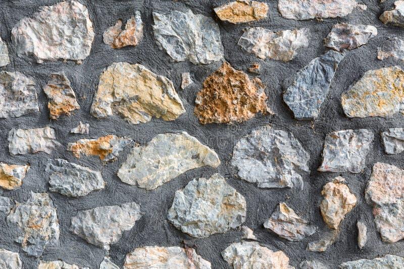 Γκρίζα σύσταση τοίχων πετρών σχεδίων στοκ εικόνα με δικαίωμα ελεύθερης χρήσης