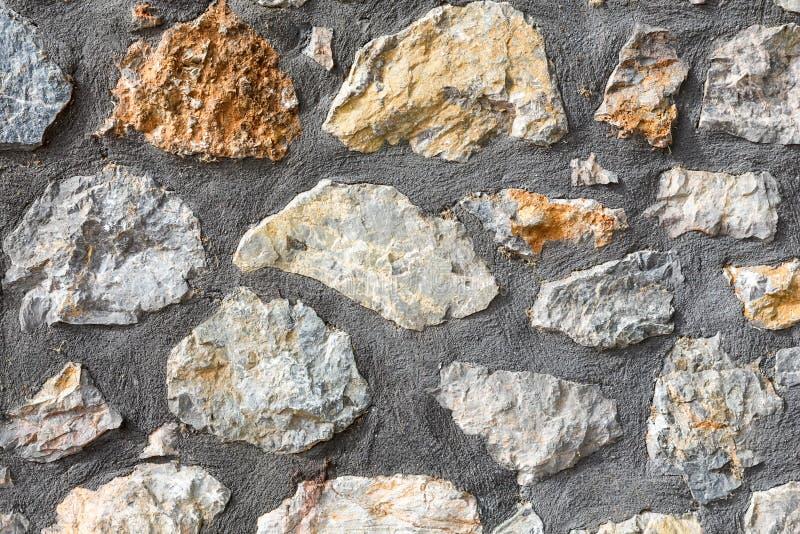 Γκρίζα σύσταση τοίχων πετρών σχεδίων στοκ εικόνες με δικαίωμα ελεύθερης χρήσης