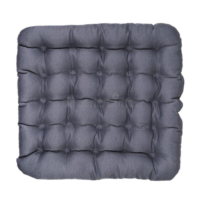Γκρίζο μαξιλάρι καρεκλών που απομονώνεται στοκ φωτογραφία με δικαίωμα ελεύθερης χρήσης