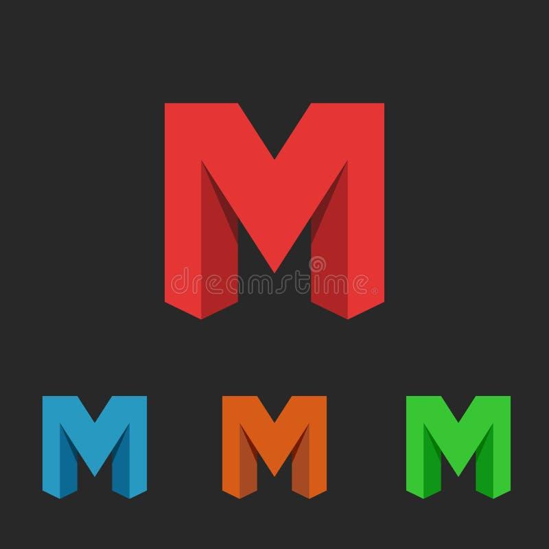 Γράμμα Μ, ένα σύνολο εικονιδίων νέου, περιοχή λογότυπων συμβόλων απεικόνιση αποθεμάτων