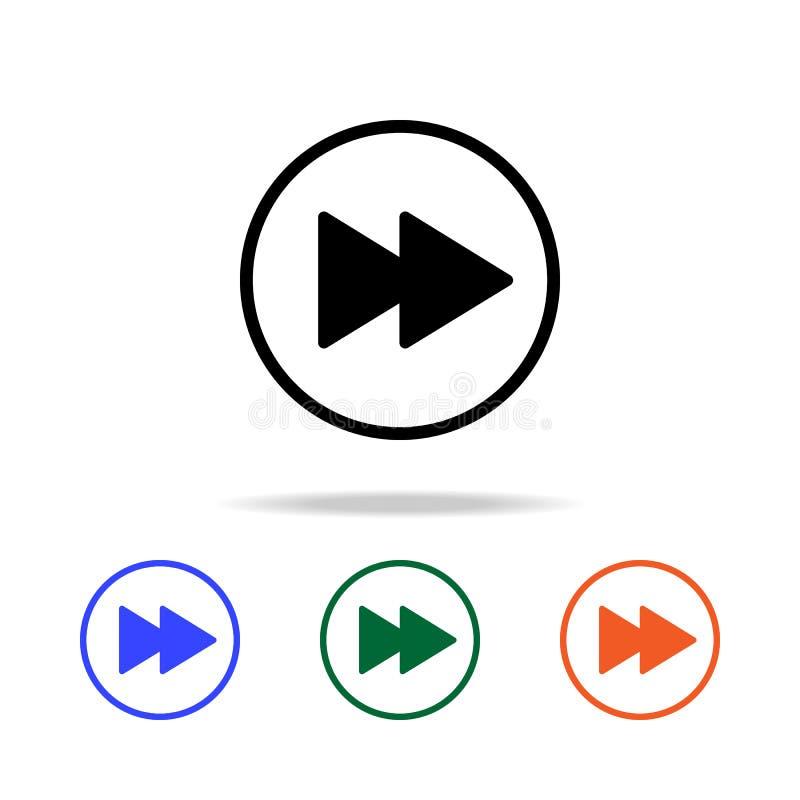 γρήγορος-αποστολή του εικονιδίου σημαδιών Στοιχεία του απλού εικονιδίου Ιστού στο πολυ χρώμα Γραφικό εικονίδιο σχεδίου εξαιρετική απεικόνιση αποθεμάτων