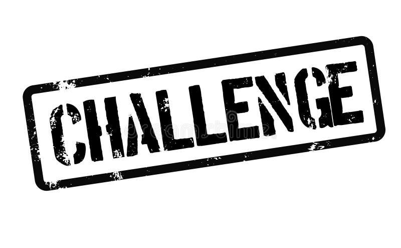 Γραμματόσημο πρόκλησης στο λευκό διανυσματική απεικόνιση