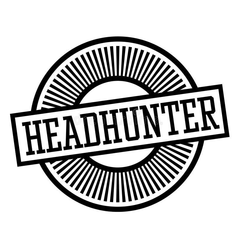 Γραμματόσημο Headhunter στο λευκό ελεύθερη απεικόνιση δικαιώματος