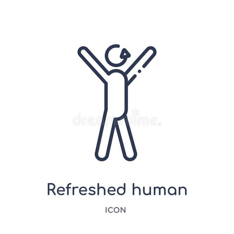 Γραμμικό αναζωογονημένο ανθρώπινο εικονίδιο από τη συλλογή περιλήψεων συναισθημάτων Η λεπτή γραμμή αναζωογόνησε το ανθρώπινο διάν απεικόνιση αποθεμάτων