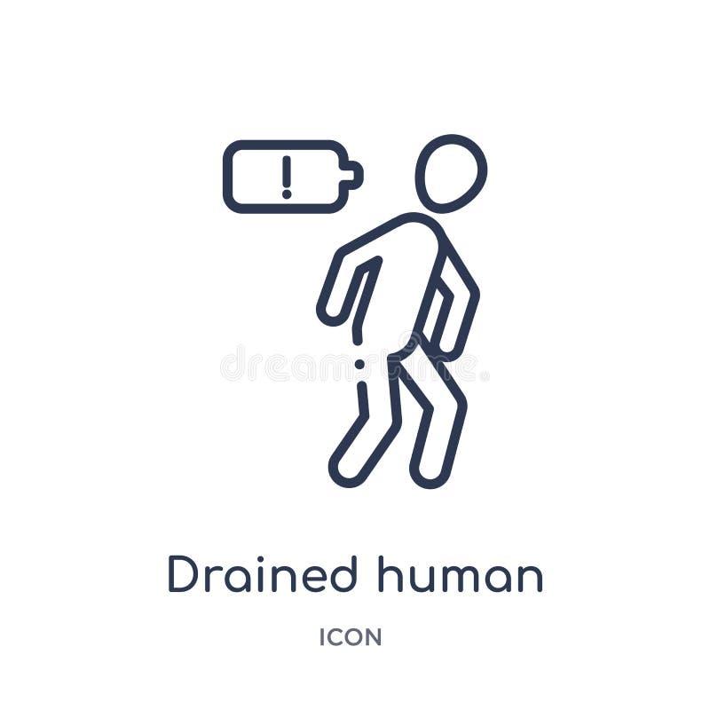 Γραμμικό αποστραγγιζόμενο ανθρώπινο εικονίδιο από τη συλλογή περιλήψεων συναισθημάτων Η λεπτή γραμμή στράγγιξε το ανθρώπινο διάνυ ελεύθερη απεικόνιση δικαιώματος