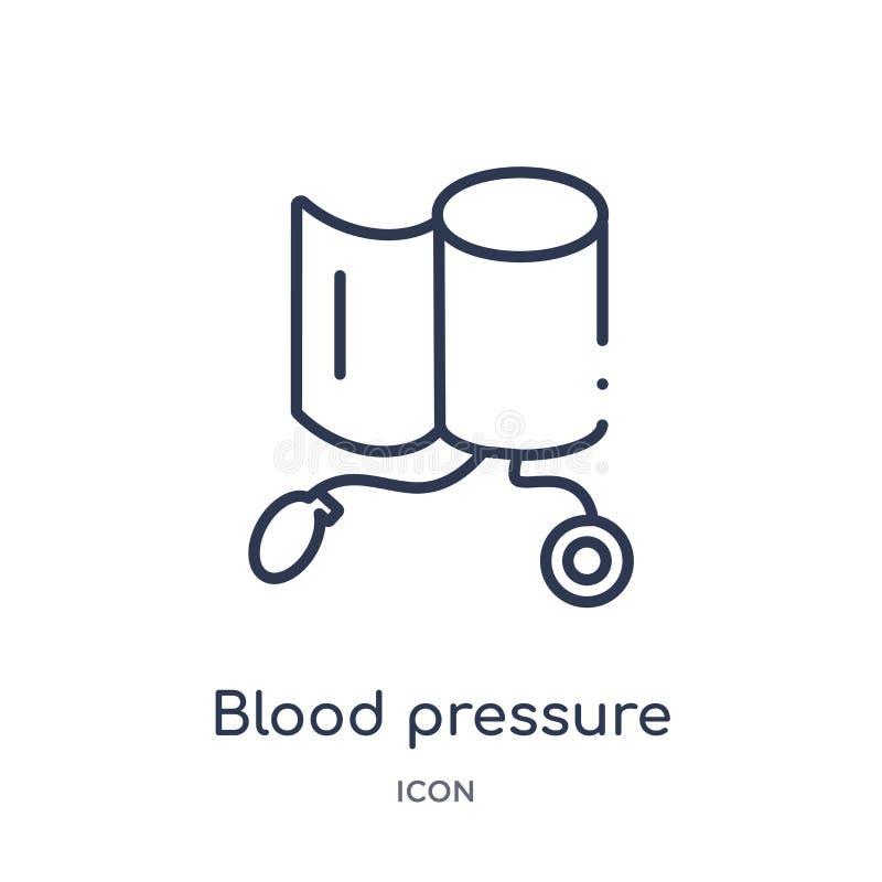 Γραμμικό εικονίδιο εργαλείων ελέγχου πίεσης του αίματος από την ιατρική συλλογή περιλήψεων Λεπτό εικονίδιο εργαλείων ελέγχου πίεσ ελεύθερη απεικόνιση δικαιώματος