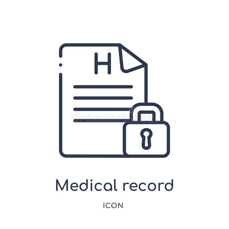 Γραμμικό εικονίδιο ιατρικών αναφορών από τη συλλογή περιλήψεων Gdpr Λεπτό εικονίδιο ιατρικών αναφορών γραμμών που απομονώνεται στ απεικόνιση αποθεμάτων