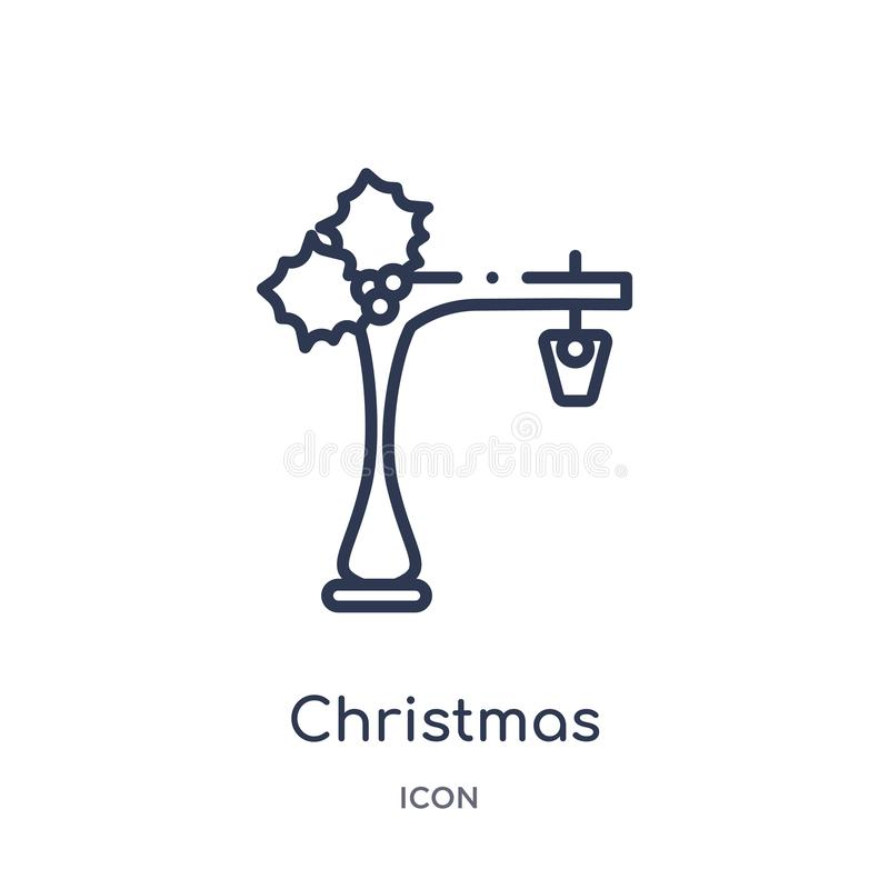 Γραμμικό εικονίδιο φωτεινών σηματοδοτών Χριστουγέννων από τη συλλογή περιλήψεων Χριστουγέννων Λεπτό διάνυσμα φωτεινών σηματοδοτών ελεύθερη απεικόνιση δικαιώματος
