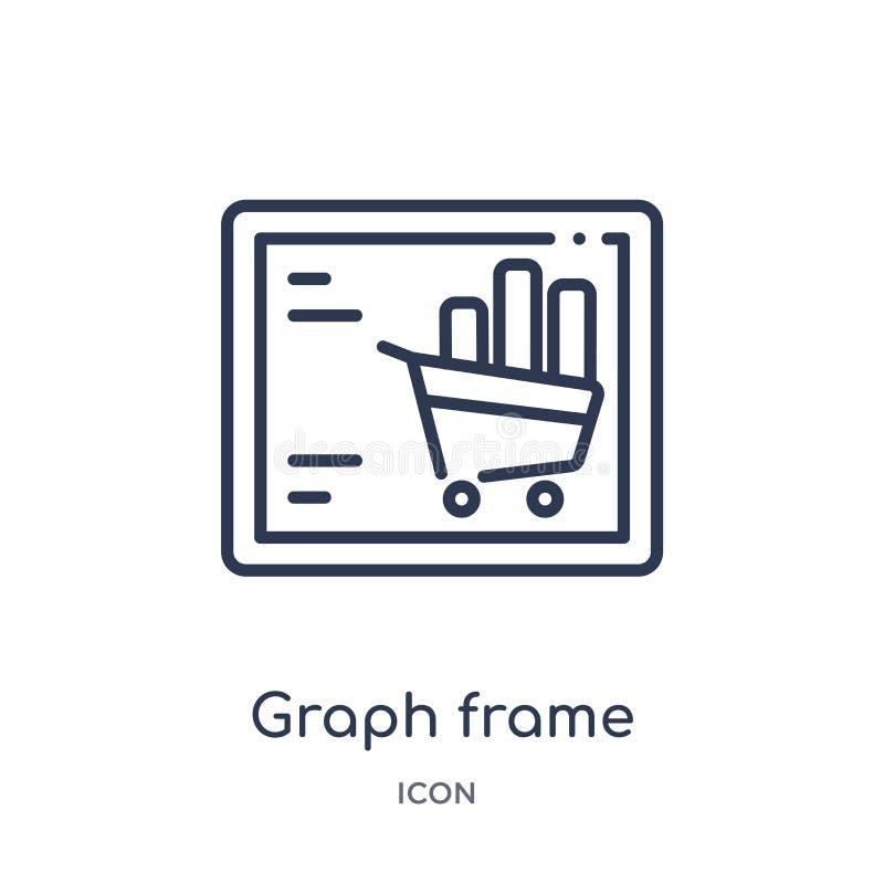Γραμμικό εικονίδιο πλαισίων γραφικών παραστάσεων από τη συλλογή περιλήψεων εμπορίου Λεπτό εικονίδιο πλαισίων γραφικών παραστάσεων απεικόνιση αποθεμάτων