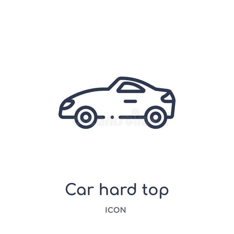 Γραμμικό σκληρό τοπ εικονίδιο αυτοκινήτων από τη συλλογή περιλήψεων μερών αυτοκινήτων Λεπτό σκληρό τοπ διάνυσμα αυτοκινήτων γραμμ ελεύθερη απεικόνιση δικαιώματος