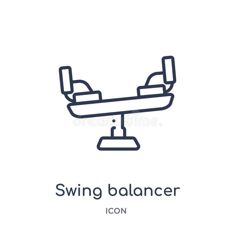 Γραμμικό balancer ταλάντευσης εικονίδιο από τη συλλογή περιλήψεων εκπαίδευσης Λεπτό balancer ταλάντευσης γραμμών εικονίδιο που απ απεικόνιση αποθεμάτων
