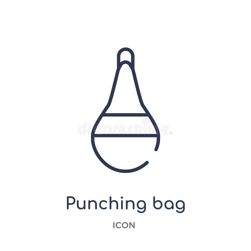 Γραμμικό punching εικονίδιο τσαντών από τη συλλογή περιλήψεων υγείας Λεπτό punching γραμμών εικονίδιο τσαντών που απομονώνεται στ ελεύθερη απεικόνιση δικαιώματος