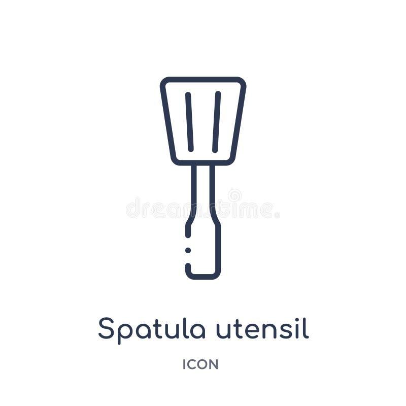Γραμμικό spatula εικονίδιο εργαλείων από τη συλλογή περιλήψεων Bistro και εστιατορίων Λεπτό spatula γραμμών διάνυσμα εργαλείων πο απεικόνιση αποθεμάτων
