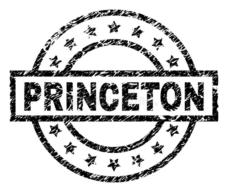 Γρατσουνισμένη κατασκευασμένη σφραγίδα γραμματοσήμων PRINCETON απεικόνιση αποθεμάτων