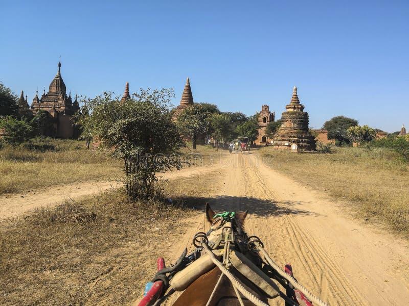 Γύρος μεταφορών της βουδιστικής παγόδας σε pugan, Myanmar στοκ φωτογραφία με δικαίωμα ελεύθερης χρήσης