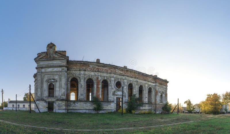 Εγκαταλειμμένη καθολική εκκλησία Zelts, Ουκρανία στοκ εικόνα με δικαίωμα ελεύθερης χρήσης