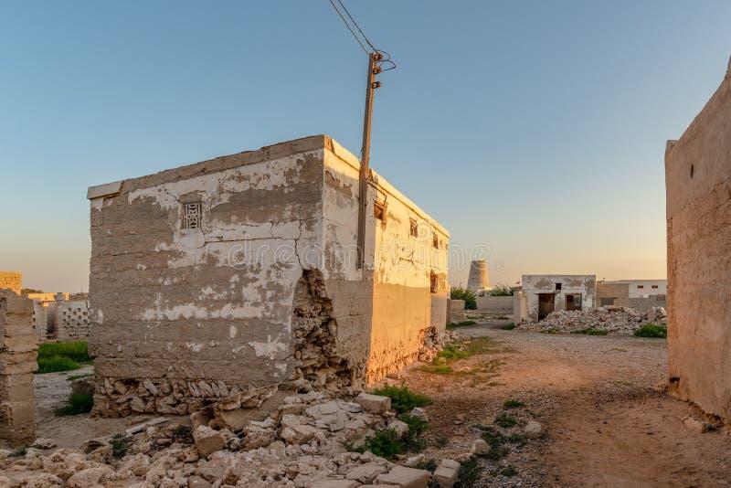 Εγκαταλειμμένο σπίτι, Al Hamra, Ras Al Khaimah Al Jazirah στοκ εικόνες