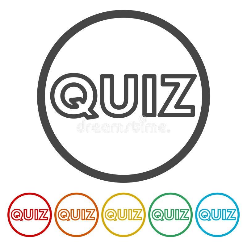 Εικονίδια διαγωνισμοου γνώσεων καθορισμένα απεικόνιση αποθεμάτων