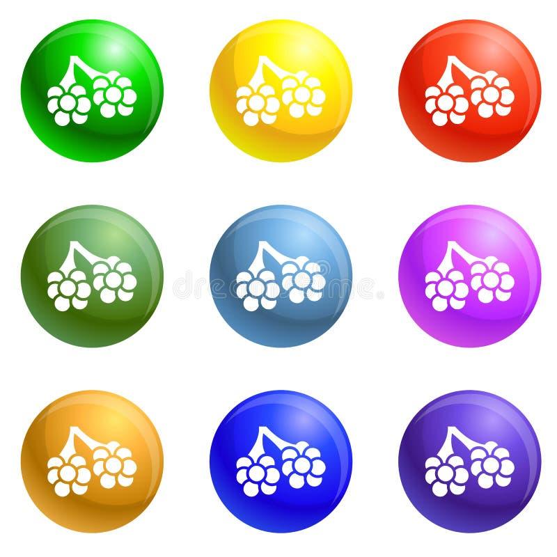 Εικονίδια φατνίων ιών καθορισμένα διανυσματικά διανυσματική απεικόνιση
