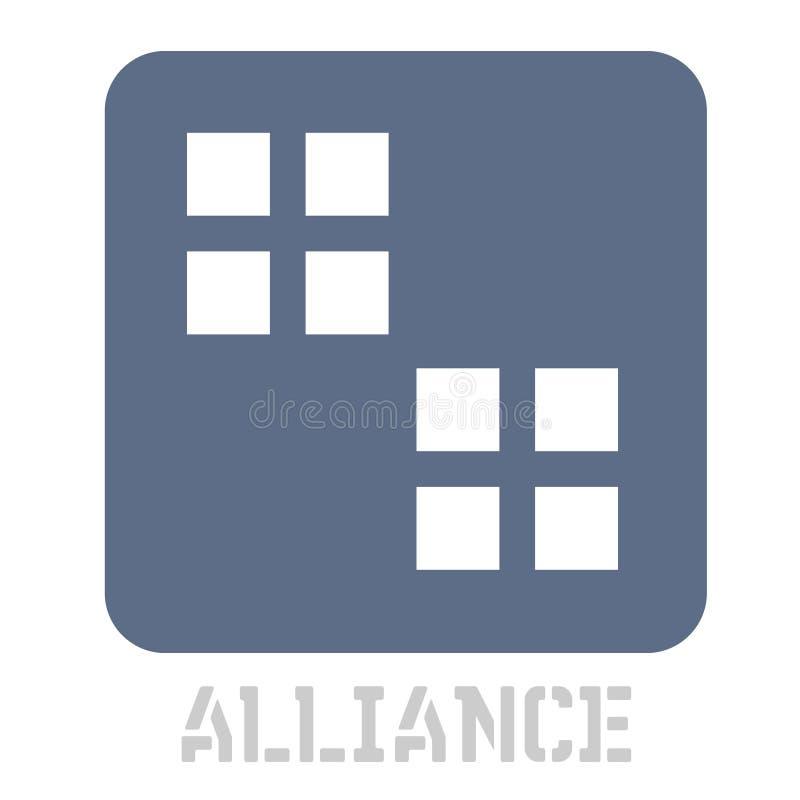 Εικονίδιο έννοιας συμμαχίας στο λευκό διανυσματική απεικόνιση