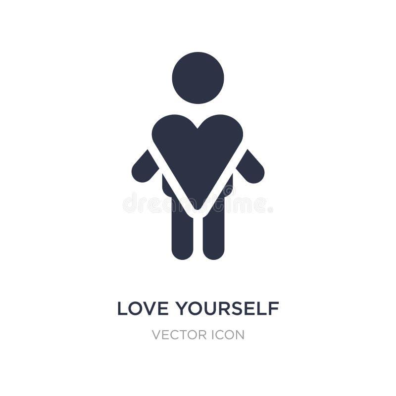 εικονίδιο αγάπης οι ίδιοι στο άσπρο υπόβαθρο Απλή απεικόνιση στοιχείων από την έννοια ανθρώπων απεικόνιση αποθεμάτων