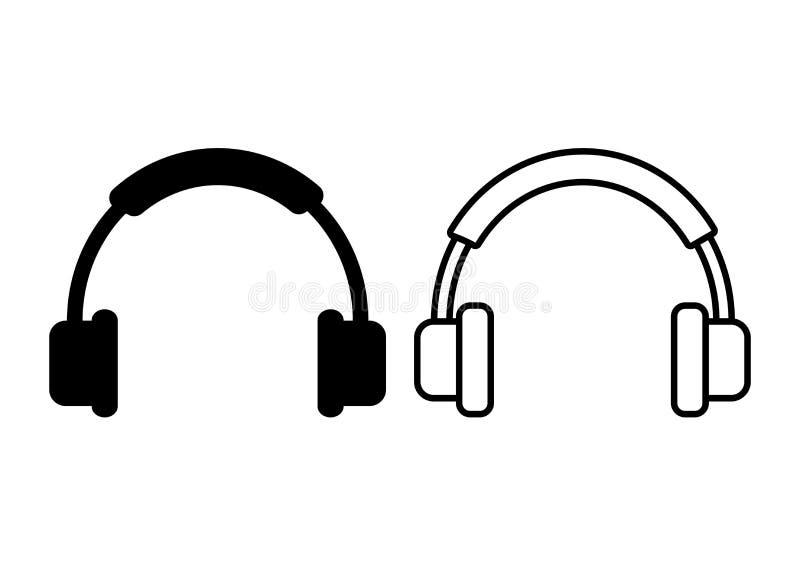 Εικονίδιο ακουστικών επίσης corel σύρετε το διάνυσμα απεικόνισης ελεύθερη απεικόνιση δικαιώματος