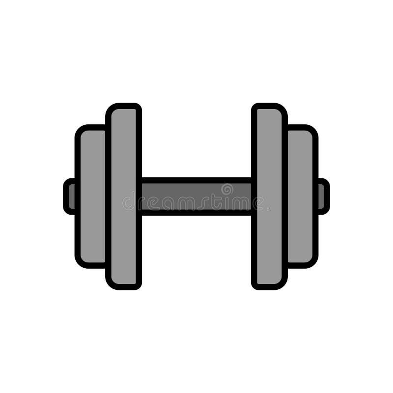 Εικονίδιο αλτήρων εξοπλισμός ικανότητας για το μυ χεριών workout στη γυμναστική απλός γραφικός διανυσματική απεικόνιση