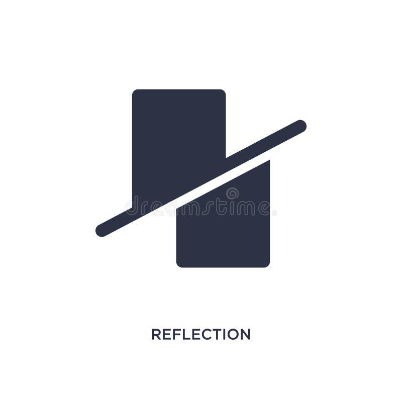 εικονίδιο αντανάκλασης στο άσπρο υπόβαθρο Απλή απεικόνιση στοιχείων από την έννοια γεωμετρίας ελεύθερη απεικόνιση δικαιώματος