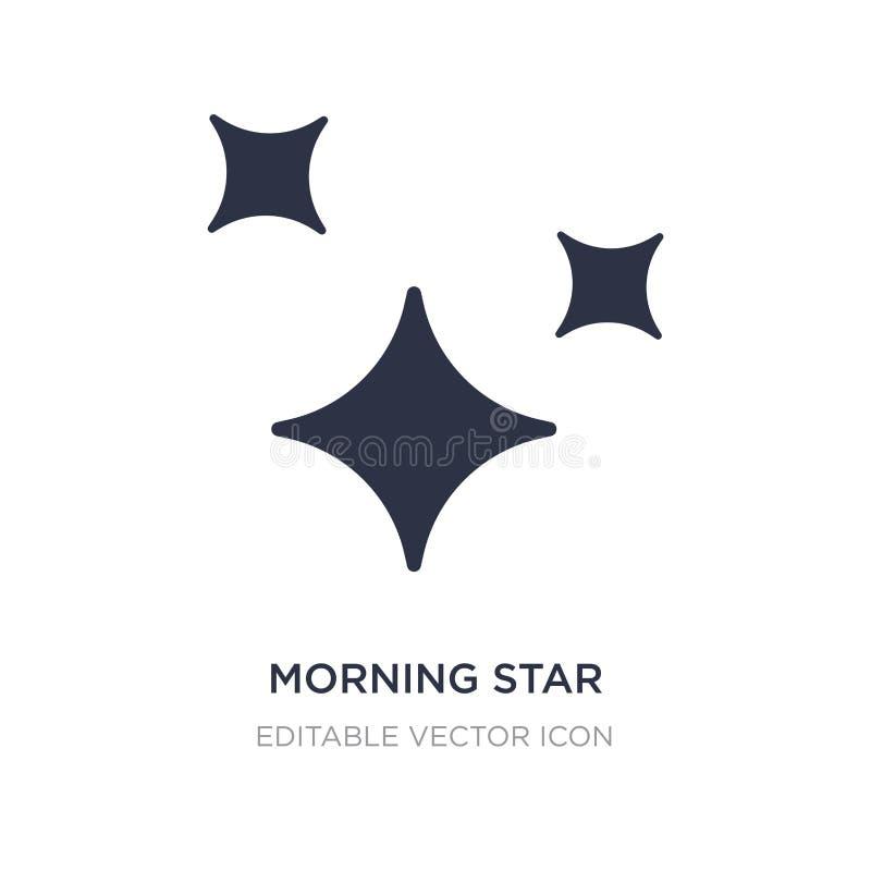 εικονίδιο αστεριών πρωινού στο άσπρο υπόβαθρο Απλή απεικόνιση στοιχείων από την έννοια μορφών διανυσματική απεικόνιση