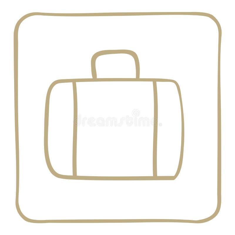 Εικονίδιο βαλιτσών σε ένα ανοικτό καφέ πλαίσιο να είστε μπορεί σχεδιαστής κάθε evgeniy διάνυσμα πρωτοτύπων αντικειμένου γραφικής  διανυσματική απεικόνιση
