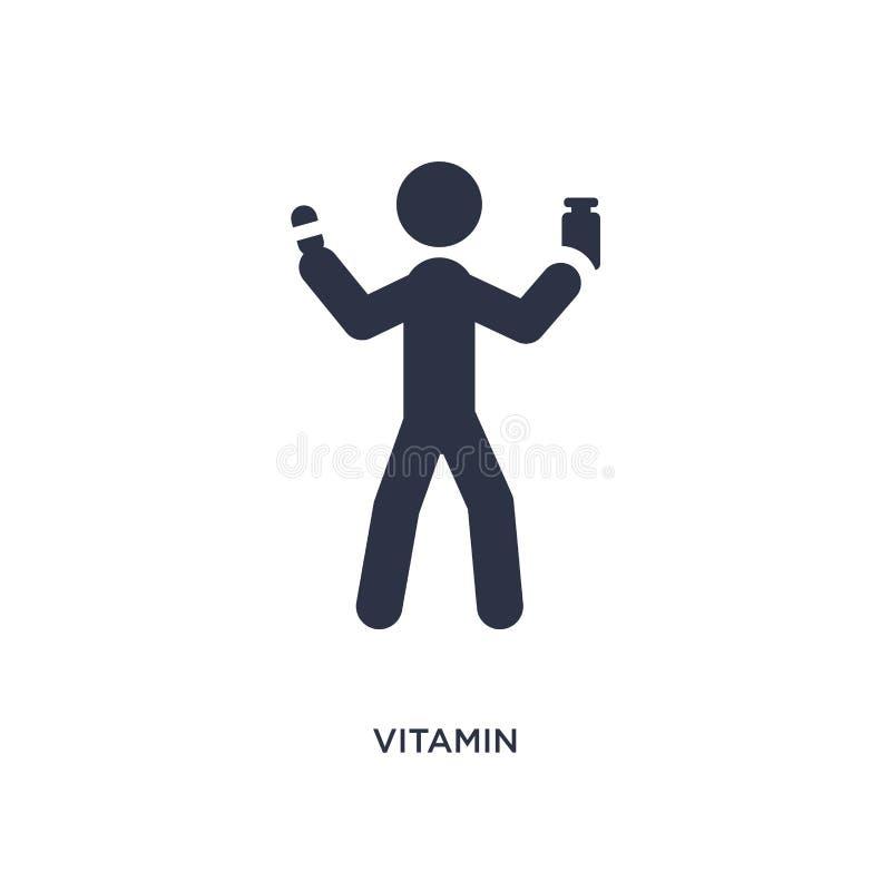 εικονίδιο βιταμινών στο άσπρο υπόβαθρο Απλή απεικόνιση στοιχείων από την έννοια δραστηριοτήτων απεικόνιση αποθεμάτων