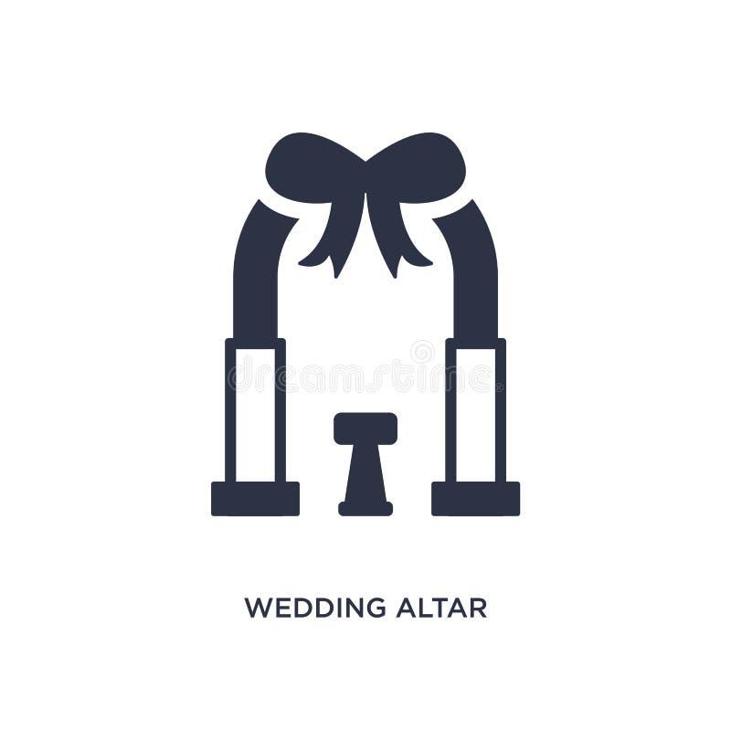 εικονίδιο γαμήλιων βωμών στο άσπρο υπόβαθρο Απλή απεικόνιση στοιχείων από την έννοια γιορτών γενεθλίων και γάμου απεικόνιση αποθεμάτων