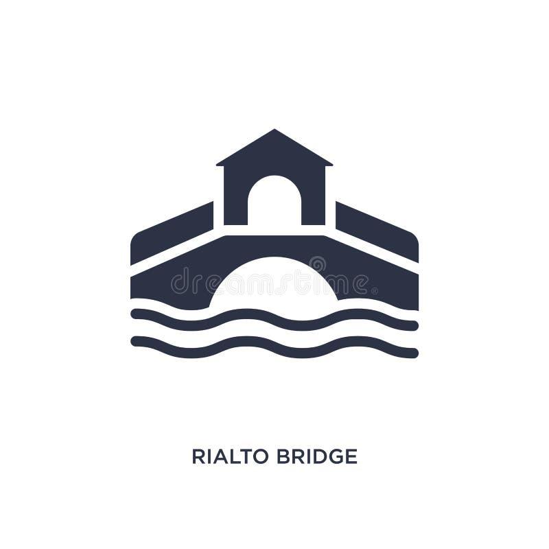 εικονίδιο γεφυρών rialto στο άσπρο υπόβαθρο Απλή απεικόνιση στοιχείων από την έννοια κτηρίων απεικόνιση αποθεμάτων