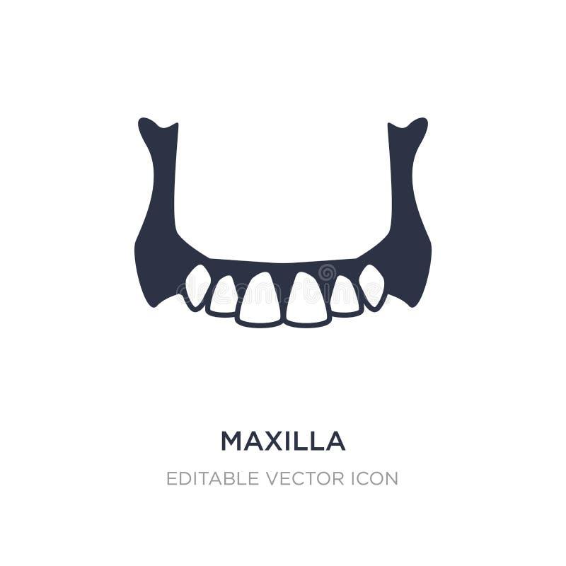 εικονίδιο γνάθων στο άσπρο υπόβαθρο Απλή απεικόνιση στοιχείων από την έννοια οδοντιάτρων απεικόνιση αποθεμάτων