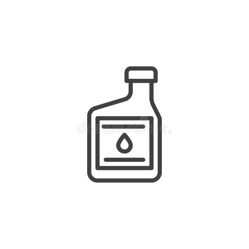 Εικονίδιο γραμμών εμπορευματοκιβωτίων πετρελαίου μηχανών ελεύθερη απεικόνιση δικαιώματος