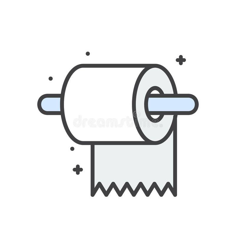 Εικονίδιο γραμμών τουαλετών στο άσπρο υπόβαθρο για το γραφικό και σχέδιο Ιστού, σύγχρονο απλό διανυσματικό σημάδι μπλε έννοια Δια ελεύθερη απεικόνιση δικαιώματος