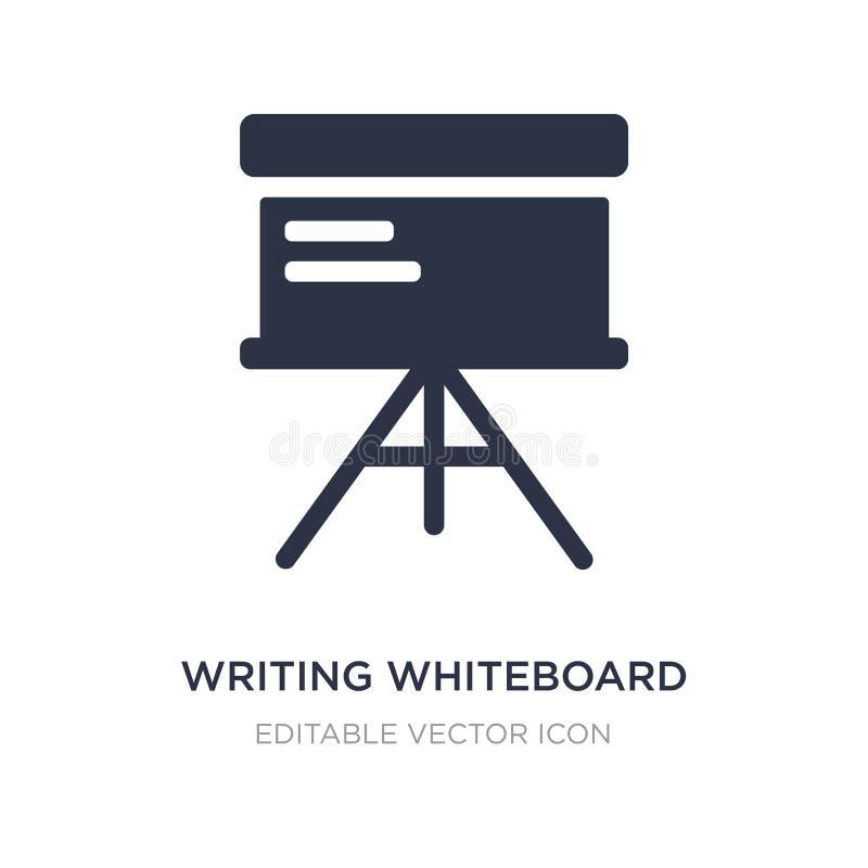 εικονίδιο γραψίματος whiteboard στο άσπρο υπόβαθρο Απλή απεικόνιση στοιχείων από την έννοια εκπαίδευσης απεικόνιση αποθεμάτων