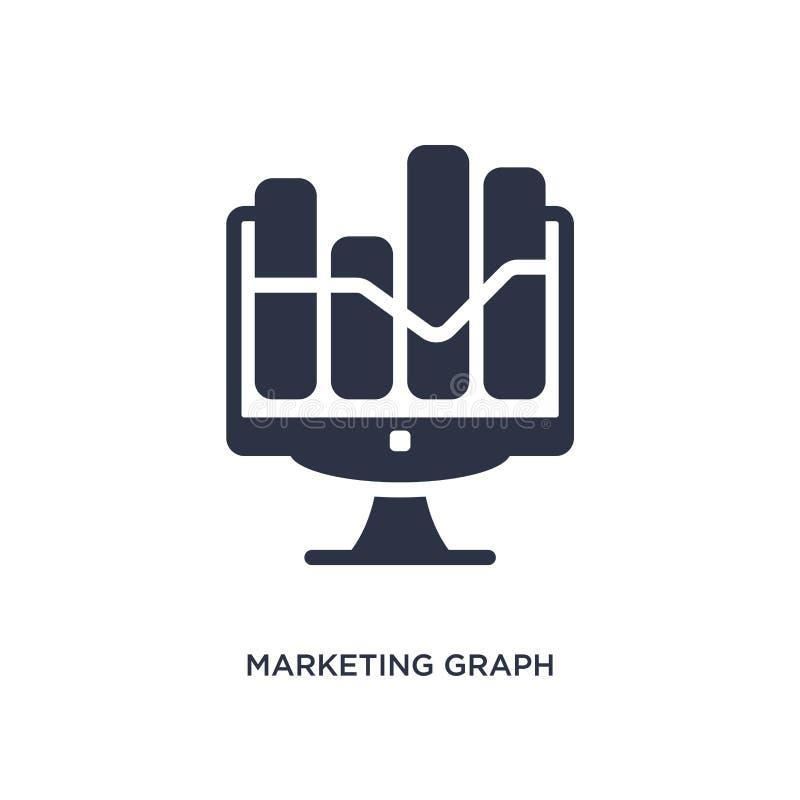 εικονίδιο γραφικών παραστάσεων μάρκετινγκ στο άσπρο υπόβαθρο Απλή απεικόνιση στοιχείων από την έννοια μάρκετινγκ απεικόνιση αποθεμάτων